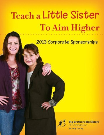 Teach a Little Sister To Aim Higher - Big Brothers Big Sisters of ...