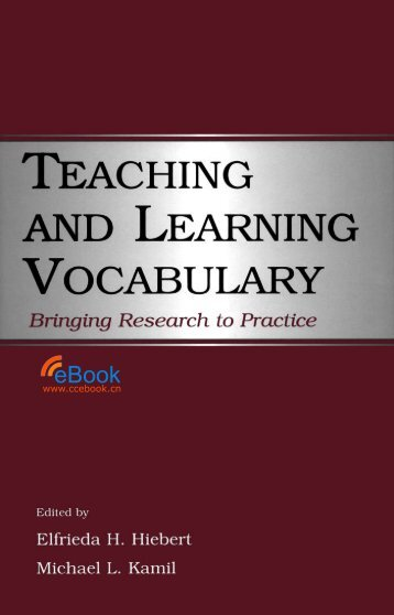 Teaching and Learning Vocabulary Bringing Research to Practice