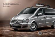 Genuine accessories for the Viano - Mercedes