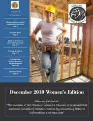 December 2010 - Missouri Women's Council