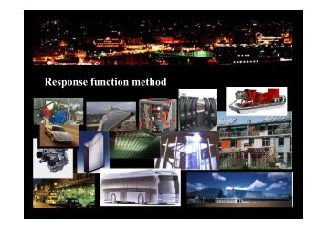 Response function method - Energy Systems Research Unit