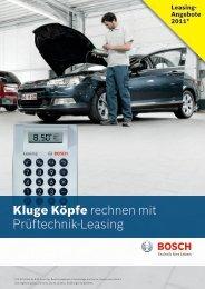 Kluge Köpfe rechnen mit Prüftechnik-Leasing - Bosch - Werkstattportal