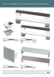 CHROME LOOK SQUARE HANDLES AND KNOBS PG27 - Roco