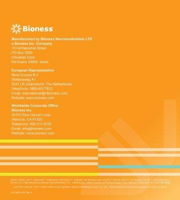 NESS L300 - Bioness Inc.