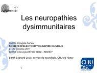 Les neuropathies dysimmunitaires - Société d'Electromyographie ...