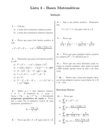 Lista 3 - Bases Matemáticas