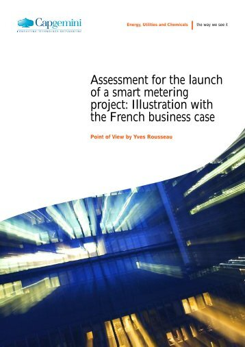 Assessment for the launch of a smart metering project ... - Smart Grids