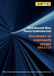 statement of corporate intent - Australian Rail Track Corporation