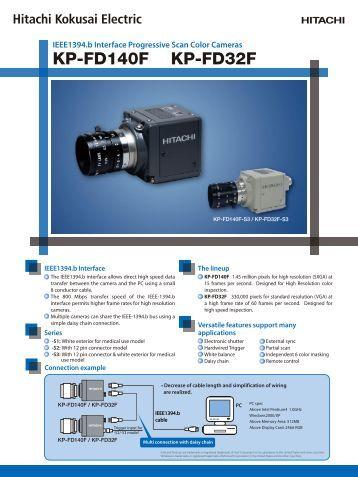 IEEE1394.b Interface Progressive Scan Color Cameras KP