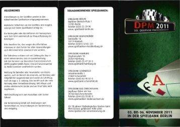 Offizieller Flyer - Spielbanken Niedersachsen Gmbh