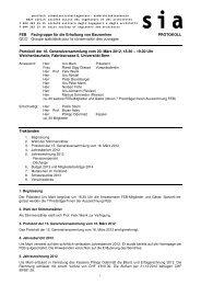 Protokoll GV 2013 - fachgruppe für die erhaltung von bauwerken - sia