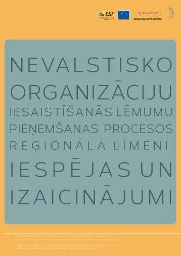nevalstisko organizāciju iesaistīšanās lēmumu ... - Dzīvības koks