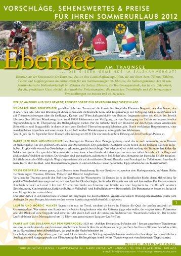 vorschläge, sehenswertes & preise für ihren sommerurlaub 2012