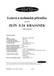 Letová a technická příručka ZLÍN Z-24 KRAJÁNEK - Národní ...