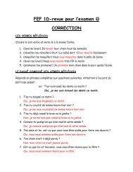 FEF 1D-revue pour l'examen CORRECTION - madame-underhill