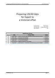 Preparing LISCAD data for Export to a Victorian ePlan - Spear