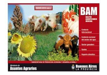 Boletín Agropecuario Mensual / MARZO 2010 - Ministerio de ...