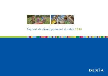 Rapport de développement durable 2010 - Dexia.com