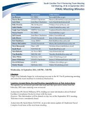 Summary – 14-15 Sept 11 Meeting - Smith | Associates