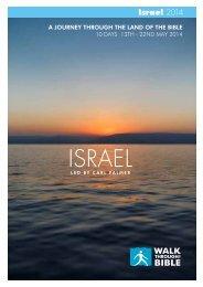 May 2014 Israel led by Carl Palmer Itinerary - Walk Through the Bible