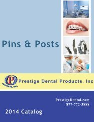 Pins & Posts - Prestige Dental Products