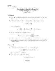 Løsningsforslag til eksamen - NTNU