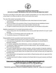 2015-2016 Board of Education Student Representative Application Packet