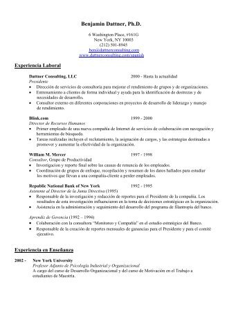 Descargar CV - Dattner Consulting