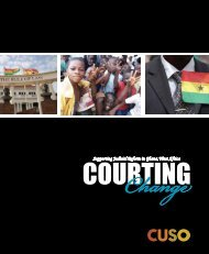 Courting Change - Cuso International