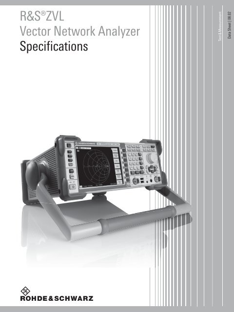 Datasheet (english) R&S®ZVL Vector Network Analyzer