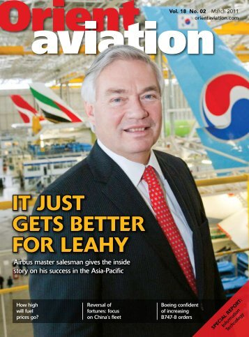 IT JUST GETS BETTER FOR LEAHY - Orient Aviation
