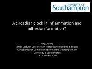 A circadian clock in inflammation and adhesion formation? - eshre
