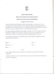 Supplier Profile Form - Directorate of Economics and Statistics