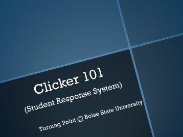 Clicker Set up and Registration - Academics - Boise State University
