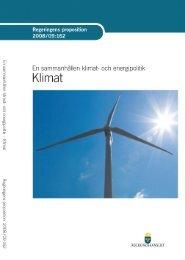 En sammanhållen klimat- och energipolitik - klimat - Regeringen
