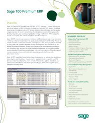 Sage 100 Premium ERP I Overview