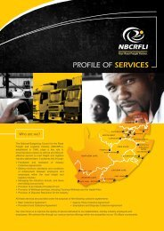 to access our Profile of Services brochure - nbcrfli.org.za