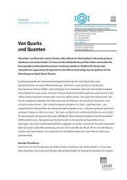 Von Quarks und Quanten