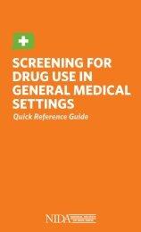 Screening for Drug uSe in general MeDical SettingS - National ...