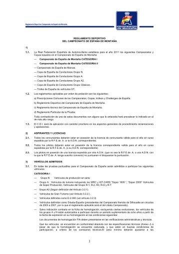 REGLAMENTO DEPORTIVO DEL CAMPEONATO DE ESPAÑA DE ...