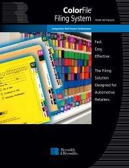 Color File Filing System - Reynolds and Reynolds