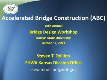 Accelerating Bridge Construction with Prefabricated Bridge ...