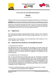 Curriculum für das Bachelorstudium Physik - mibla.TUGraz.at