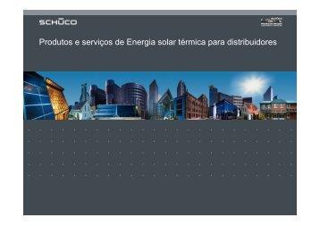 Produtos e serviços de Energia solar térmica para distribuidores