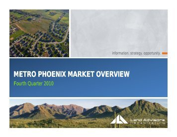 METRO PHOENIX MARKET OVERVIEW - Sonoran Institute