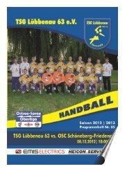 Vorscha aktuelles Spiel I - TSG Lübbenau Handball