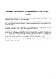 Valutazione Neuropsicologica di Pazienti Adolescenti con ... - Lice
