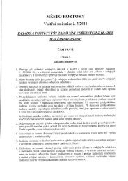Zásady a postupy při zadávání veřejných zakázek ... - Město Roztoky