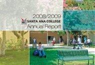 Annual Report 2008/2009 - Santa Ana College