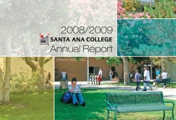 Annual Report 2008/2009 - Santa Ana College
